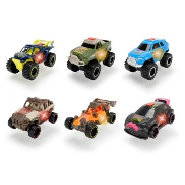 "Dickie Toys 4"" Joyrider Lights & Sounds Racing Cars - Assorted"