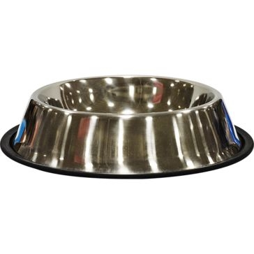 Scott Pet Stainless Steel No-Tip Food/Water Bowl