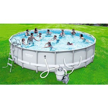 "Bestway 14'x48"" Power Steel Swimming Pool"