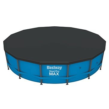 Bestway 15' PVC Round Steel Frame Swimming Pool Cover 58038E