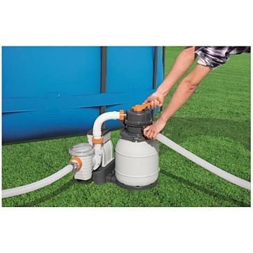 Bestway FlowClear Sand Filter Pump System 1000 Gallon 58496E