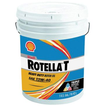 Shell Rotella T Triple Protection 5 Gallon Heavy Duty Engine Oil 15W40 550019916