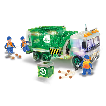 Laser Pegs Recycle Truck Building Set