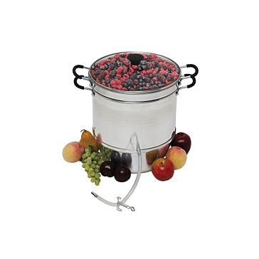 Victorio Aluminum Steam Juicer with Tempered Glass Lid