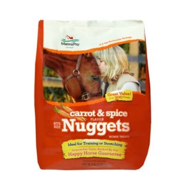 Manna Pro Carrot & Spice 4lb Horse Treat Nuggets 92944254
