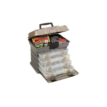 Plano Guide Series 4-Tray Stowaway Rack System Tackle Box