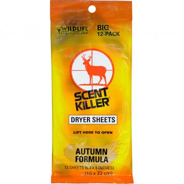 Wildlife Research Center Scent Killer Dryer Sheets
