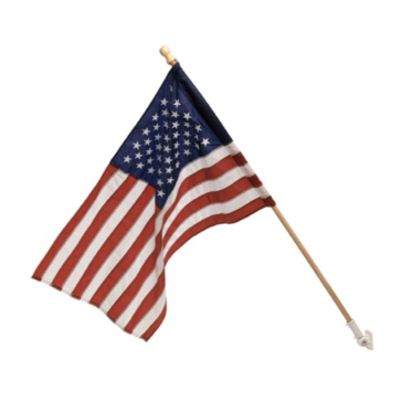 Valley Forge Flag 2 1/2-Feet by 4-Feet Nylon US Flag Kit with 5-Foot Wood Pole and Bracket
