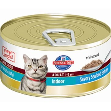 Hill's Science Diet Adult Indoor Canned Cat Food - Savory Seafood 5oz
