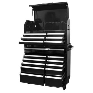 Homak Pro Series 2-Piece 17-Drawer Combo Tool Chest 42""