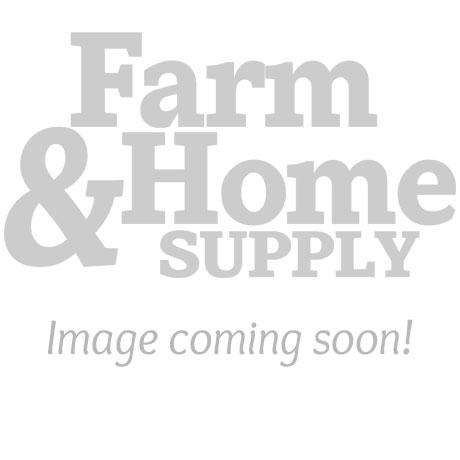 "Apache 1-1/2"" x 25' Blue Standard-Duty PVC Layflat Discharge Hose Assembly — Polypropylene Cam Lock"