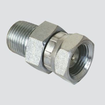 """Apache 1/2"""" Male Pipe Thread x 1/2"""" Female Pipe Thread Swivel with 1/32"""" Restrictor Hydraulic Adapter"""