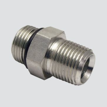 """Apache Style 6401 1/2"""" Male O-ring Boss x 1/2"""" Male Pipe Thread Hydraulic Adapter"""