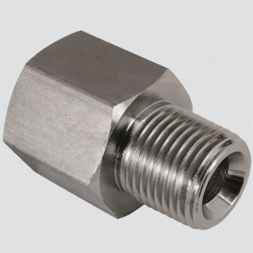 """Apache FF6404 3/4"""" Female O-ring Boss x 1/2"""" Male Pipe Thread Quick Disconnect Skid Steer Adapter"""