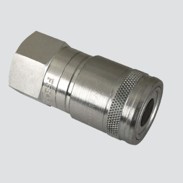 "Apache 1/2"" Female Pipe Thread x 3/8"" Body Flat Face Quick Disconnect Skid Steer Coupler (FFE495-4)"