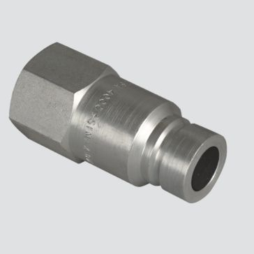 "Apache 1/2"" Flat Face Male Tip x 1/2"" Female Pipe Thread Quick Disconnect Skid Steer Coupler (FFE491-4)"