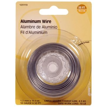 Hillman 18-Gauge Aluminum Wire 50FT