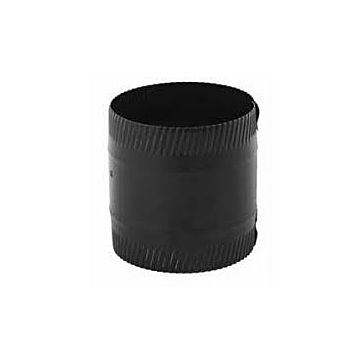 "Gray Metal 6"" Black Stovepipe Coupler for Ductwork 6x6-606"