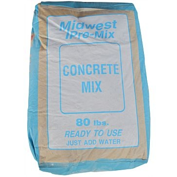 Midwest Block & Brick Pre-Mix Concrete Mix 80lb