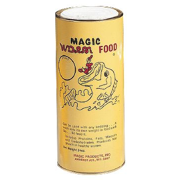 Magic Worm Food 24oz Canister