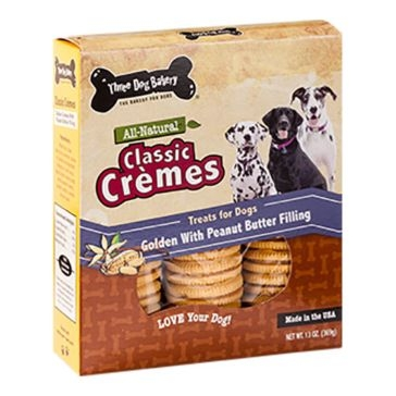 Three Dog Bakery Classic Crèmes Golden with Peanut Butter 13oz
