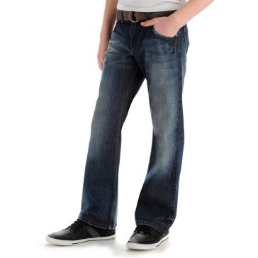 Boys Belted Relaxed Fit Bootcut Jeans Bayou