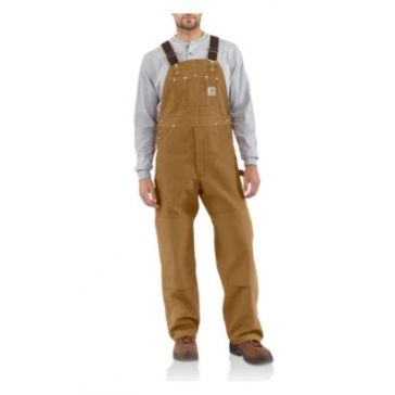 Carhartt Mens Unlined Duck Bib Overalls R01