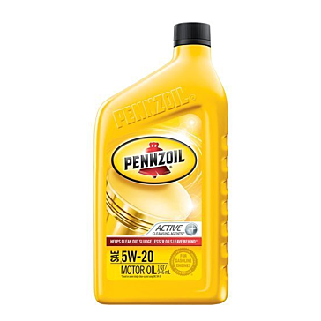 Pennzoil Motor Oil Multi Grade Sae 5w20