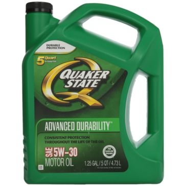 Quaker State 5W-30 Advanced Durability Motor Oil 5 Qt