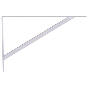 Hillman White Super Strength Shelf Brackets