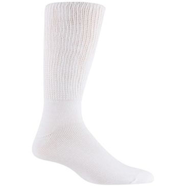 Railroad Sock Mens King Size Therapeutic Socks 2 Pair White Size 13-16 991K-WT