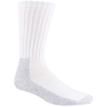 Railroad Sock Mens Steel Toe Boot Socks 2 Pair White With Grey Foot Size 10-13 Q6120