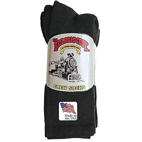 4 Pk. Men's Railroad Crew Socks (Sizes 10-13)