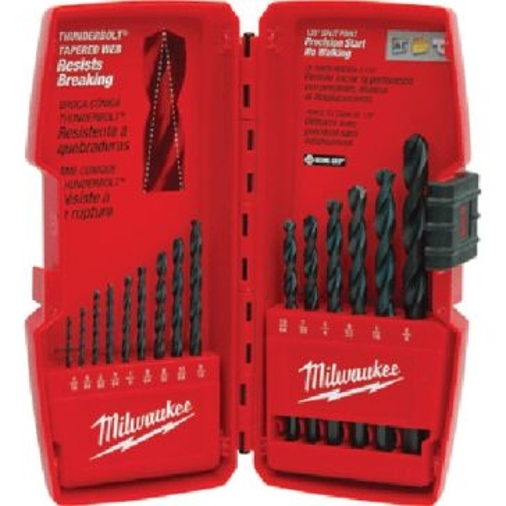 Milwaukee Thunderbolt® Black Oxide Drill Bit Set (15 PC)