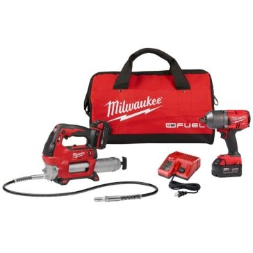 Milwaukee High Torque Impact Wrench with Grease Gun