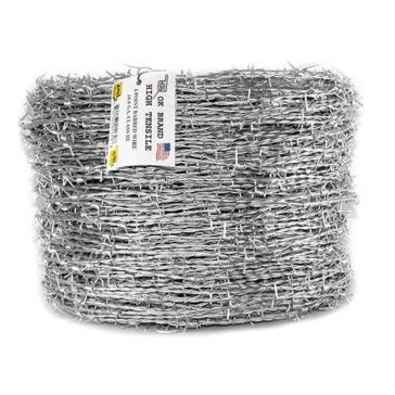 OK Brand High-Tensile 4-Point 15.5g 1320ft Barbed Wire Reel