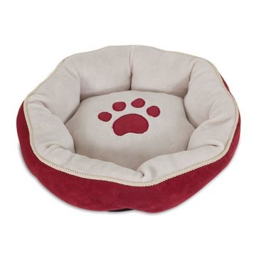 Aspen Pet Round Bed w/ Paw Applique & Gold Cord 26542 Asst.