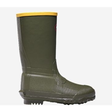 Kids Lil' Burly 9in OD Green Rubber Boots