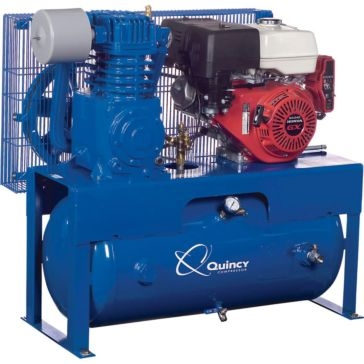 Quincy QT-7.5 Engine Drive Pro Splash Lubricating Reciprocating Air Compressor