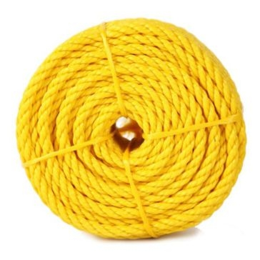 """Koch Industries 1/4"""" Yellow Twisted Polypropylene Rope 100ft"""