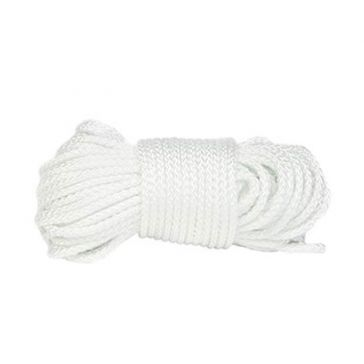 "Koch Industries 1/8"" White Nylon Braided Mason Cord 48ft"