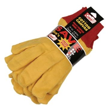 Kinco Yellow Chore Gloves - 3 Pack