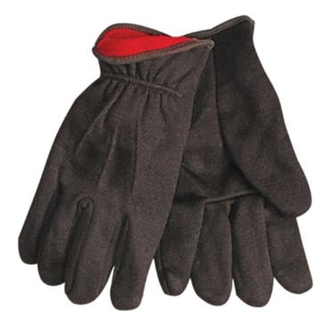 Kinco Brown Lined Jersey Gloves - Large