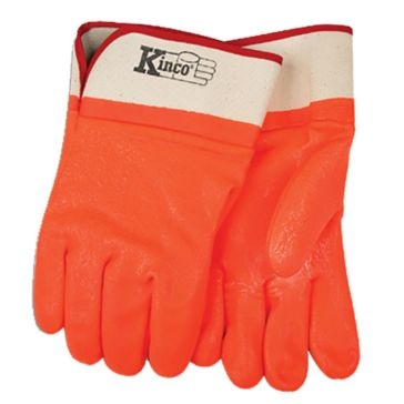 Kinco Lined Orange PVC Gloves - Large
