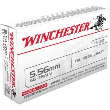 Winchester 5.56 55 Grain FMJ Rifle Cartridges Q3131
