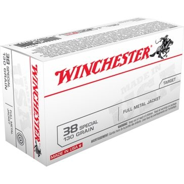Winchester Target 38 Special 130 GR. Full Metal Jacket