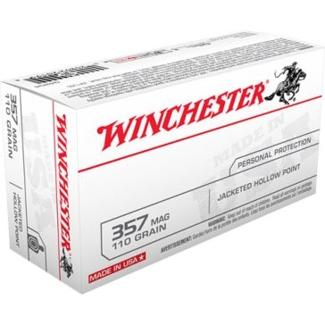 Winchester Personal Protection 357 Magnum 110 GR. Jacketed Hollow Point