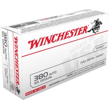 Winchester Target 380 Automatic 95  GR. Full Metal Jacket