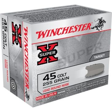 Winchester Super-X Target 45 Colt 255 GR Lead Road Nose