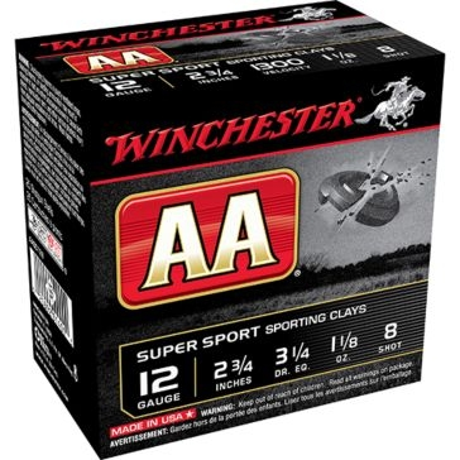 Winchester AA Target Super Sport Sporting Clays 12ga 8 Shot